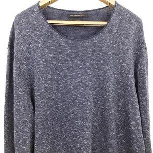 John Varvatos Luxe Thin Knit Long Sleeve Sweater
